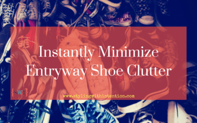 Instantly Minimize Entryway Shoe Clutter