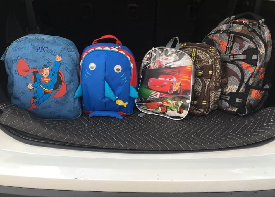 Clever Solution for Your Kids Extra Backpacks